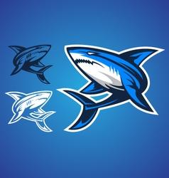shark emblem logo vector image vector image