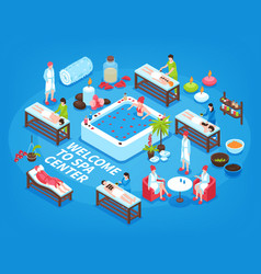 spa center isometric background vector image