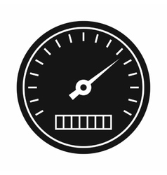 Speedometer icon in simple style vector image