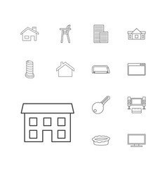 13 home icons vector