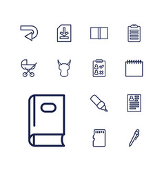 13 page icons vector