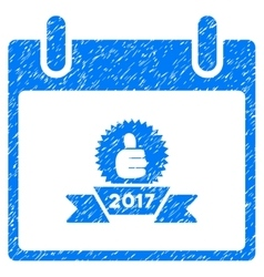 2017 award ribbon calendar day grainy texture icon vector