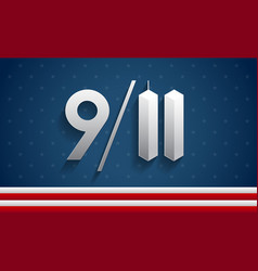 911 patriot day usa memorial background vector image