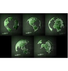 abstract image globe vector image