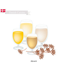Akvavit or aquavit vector
