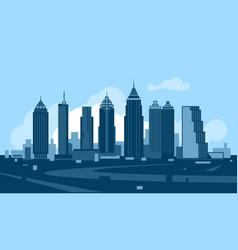 Atlanta georgia skyline vector