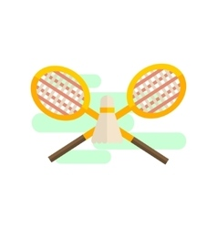 Badminton Playing Set vector
