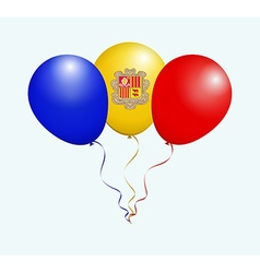 Balloons in Blue Yellow Red as Andorra National vector