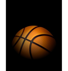 Basketball on Dark Shadowed Background vector