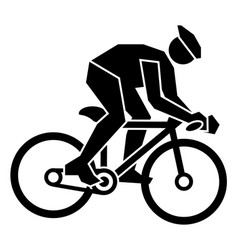 bicycle sport sign icon vector image