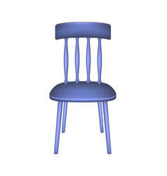 blue chair in retro design vector image