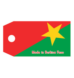 Burkina faso flag on price tag vector