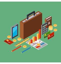 Business portfolio report business plan concept vector image