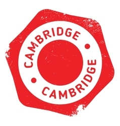 Cambridge stamp rubber grunge vector