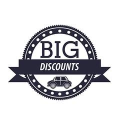 Cars on sale vector