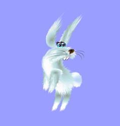 Cartoon of arctic white hare vector