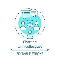 chatting with colleagues concept icon vector image