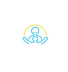 Children care logo design symbol vector