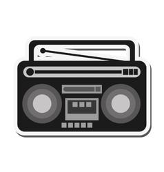 Classic boombox icon vector