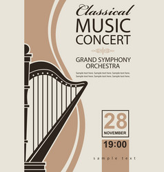classical concert poster vector image