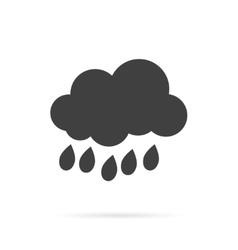 Cloud and Rain Grey Icon vector image