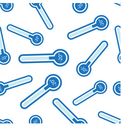 Cold thermometer icon seamless pattern background vector