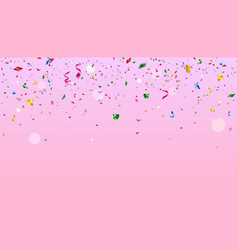 colorful confetti falling celebration background vector image