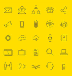 communication thin line icons vector image