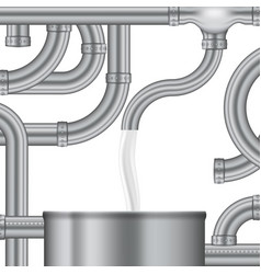 concept process of filling the milk storage tank vector image