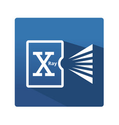 digital radiography icon vector image