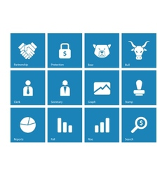 Finance icons on background vector