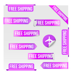 Free shipping purple label design vector