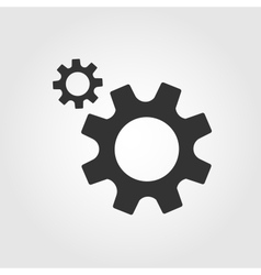 Gear icon flat design vector