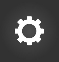gear icon simple flat symbol perfect white vector image