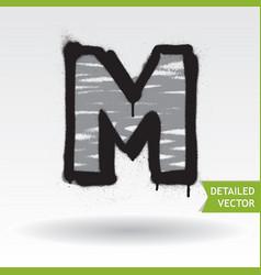 Graffiti alphabet highly detailed font vector