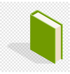 Green book isometric icon vector