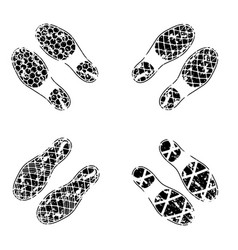 grunge shoes tracks vector image