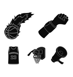 hand with a bandage a fireball a ball in the vector image