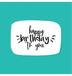 Happy Birthday label vector image