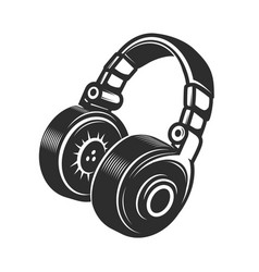 Headphones icon isolated on white background vector