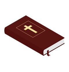 holy bible isolated on white background isometric vector image