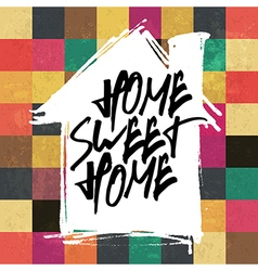 Home sweet home colorful tiles pattern vector