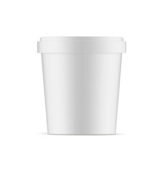 ice cream cup mockup isolated vector image
