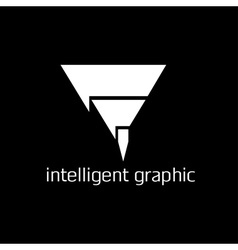Intelligent graphic concept with pencil vector
