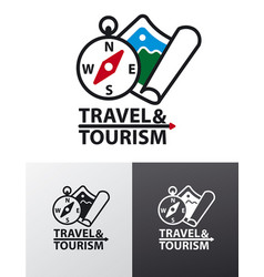 Logo for tourism vector