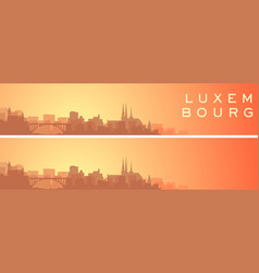 Luxembourg beautiful skyline scenery banner vector
