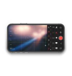mobile professional camera ui concept vector image