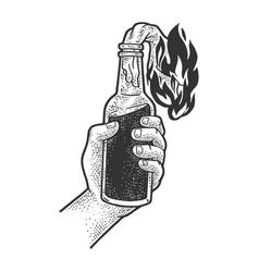 Molotov cocktail sketch vector
