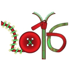 New year in form subjects for handwork vector