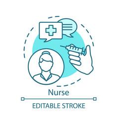 Nurse concept icon medical treatment idea thin vector